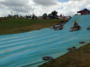Team mud slide