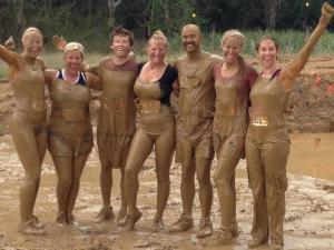 Our team after the mud swim