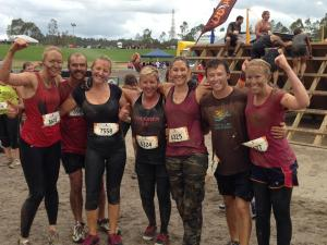 Our team surviving the mud run