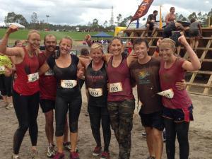 Our team surviving the mud run