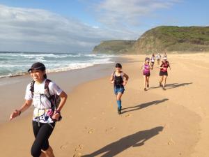 beach run group shot