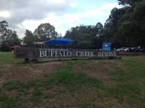 Buffalo Creek Reserve sign