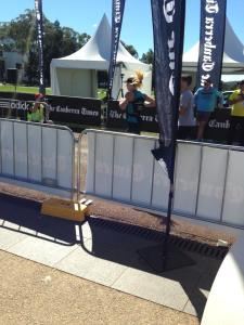 at the finish line