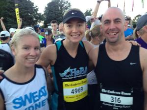 at the start ine with tilly and brendan