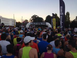 at the start line