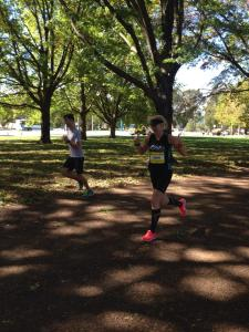 running to the finish